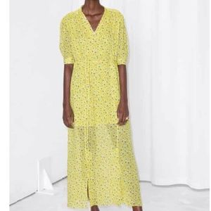 & other stories yellow floral maxi dress